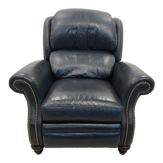 Vintage Hancock & Moore Leather Recliner For Sale