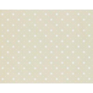 Hinson for the House of Scalamandre Trixie Wallpaper in White on Beige For Sale