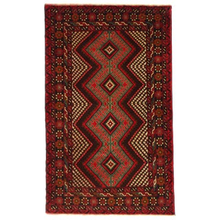 """Pasargad Ny Afghan Baluch Rug - 3' X 4'11"""" For Sale"""