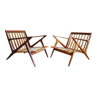 Rare Teak Poul Jensen 'Z' Chairs for Selig- a Pair