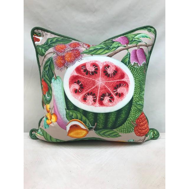 Christian Lacroix Christian Lacroix Manuel Canovas Jamaica Watermelon Pillow For Sale - Image 4 of 4