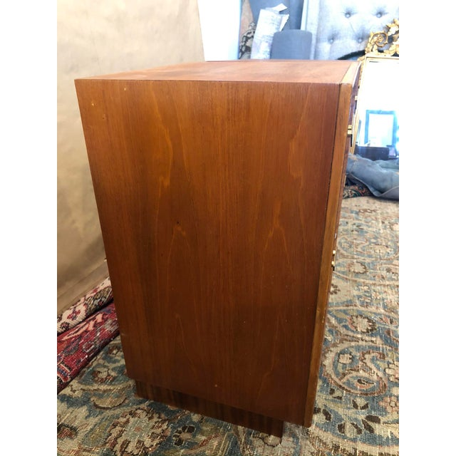 Mid Century Art Deco Night Stands W Movingui Wood Vaneer - a Pair For Sale In Los Angeles - Image 6 of 13