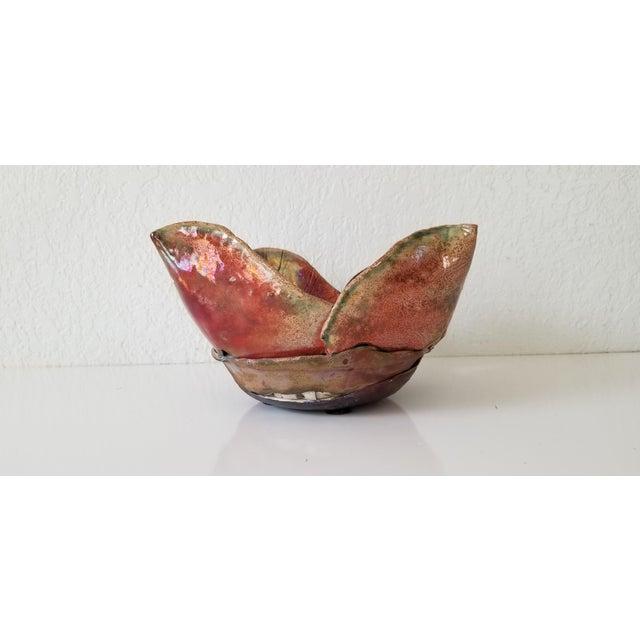 Mid-Century Modern Vintage Sculptural Art Pottery Vase . For Sale - Image 3 of 11
