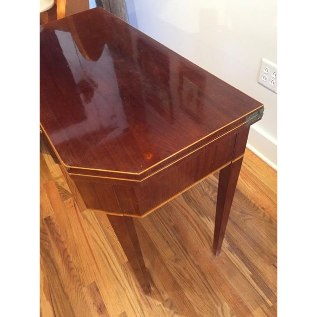 Boxwood 19th Century Biedermeier Mahogany Game Table For Sale - Image 7 of 9