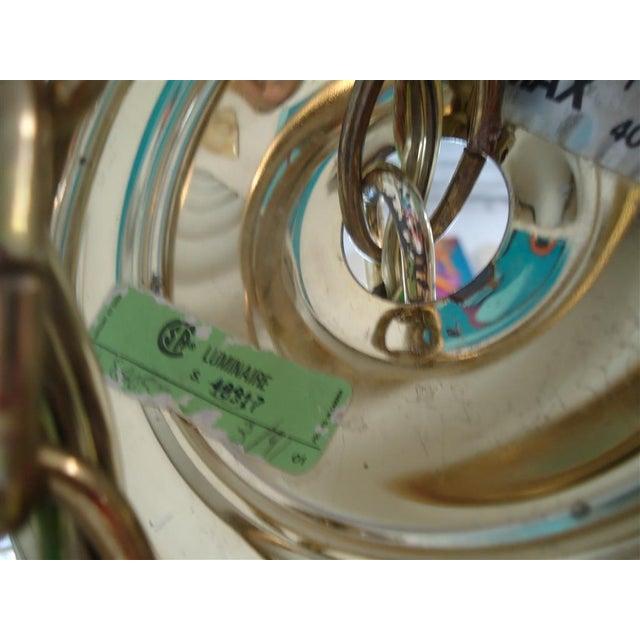Vintage Round Lucite Chandelier - Image 6 of 8