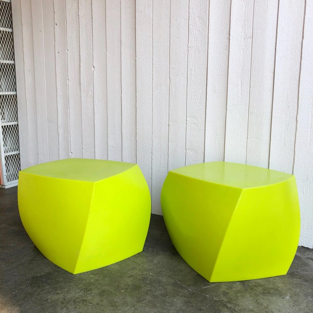 Postmodern Twist Cubes by Frank Gehry for Heller- a Pair For Sale - Image 3 of 10