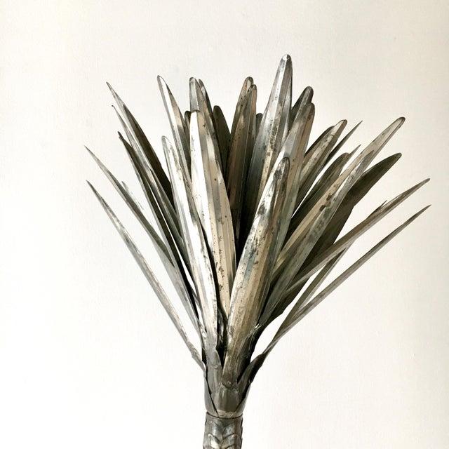 1970s Metal Palm Tree Floor Standing Sculpture 1970's For Sale - Image 5 of 7