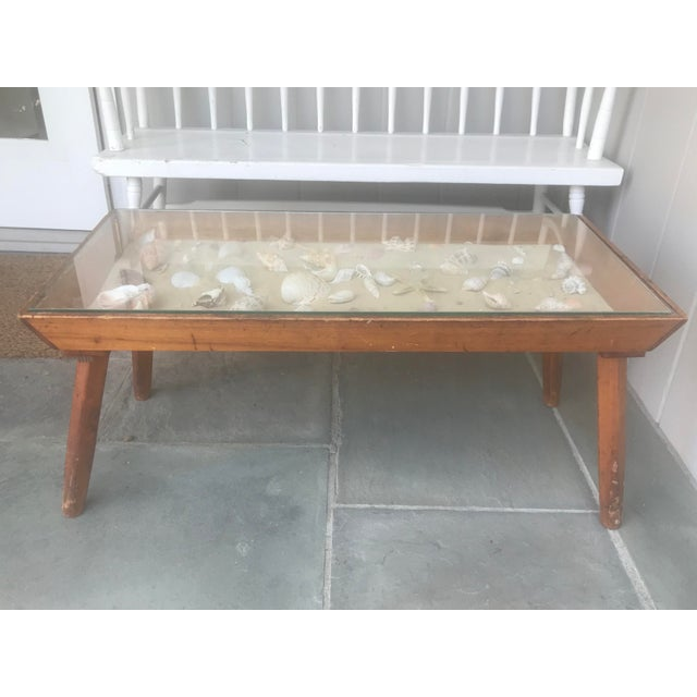 20th Century Americana Beachcomber Pine Coffee Table For Sale - Image 9 of 13