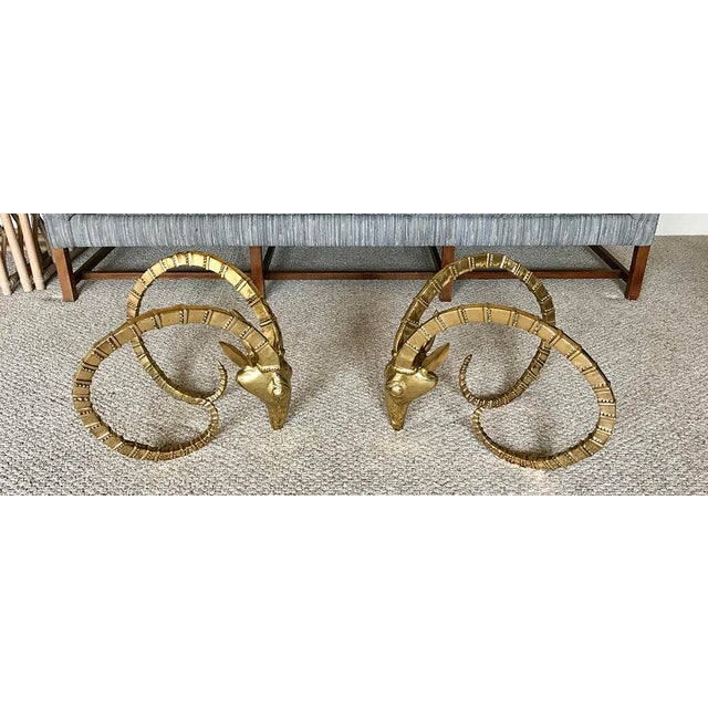 Brass Ram Base Coffee Table - Image 2 of 6