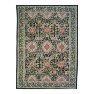 "Pasargad Aubusson Hand Woven Wool Rug - 12' 1"" X 18' 3"" For Sale"