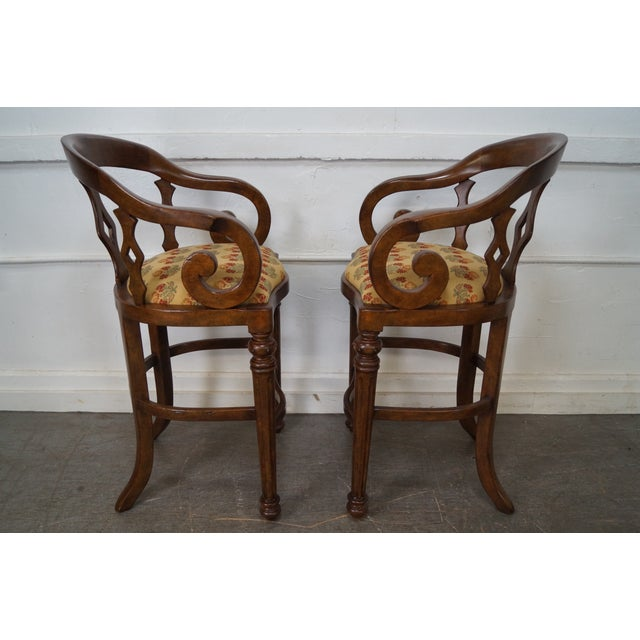 Minton Spidell Empire Style Burgess Barstools - Set of 3 - Image 3 of 10