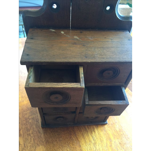 Antique Rustic Spice Box - Image 3 of 8