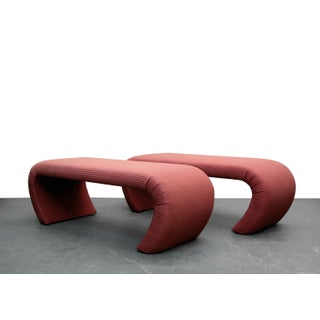 Pair of 5ft Waterfall Benches in the Manner of Karl Springer Preview