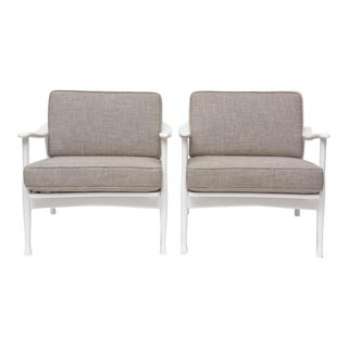 1950s Danish Armchairs by Ib Kofod-Larsen for Selig - a Pair For Sale