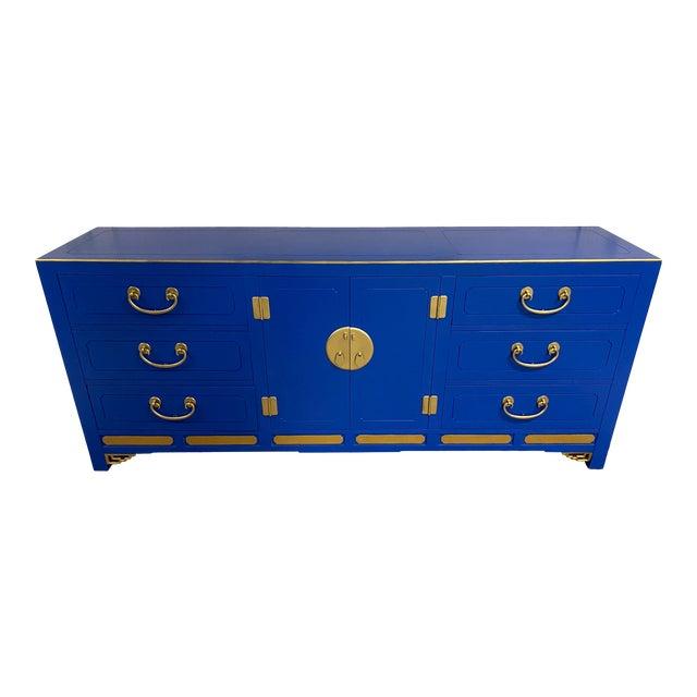 Cobalt Nine Drawer Dresser For Sale