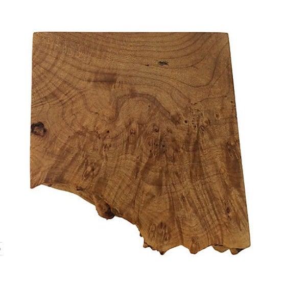 "Handcrafted Michael Elkan maple burlwood box. Signed ""Michael Elkan Studio."""