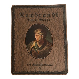 1910 German Rembrandt Art Masters Folio For Sale