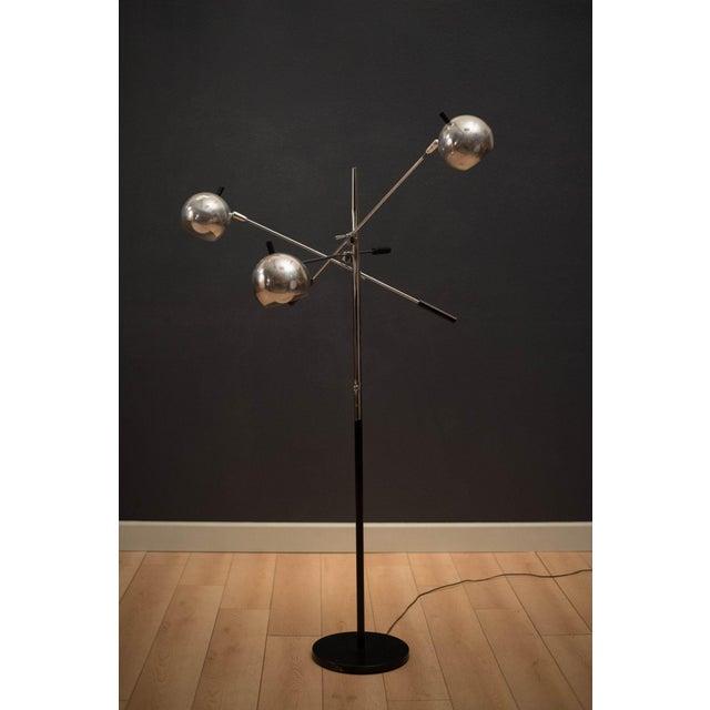 Mid-Century Modern Robert Sonneman Triennale Chrome Floor Lamp For Sale - Image 11 of 11