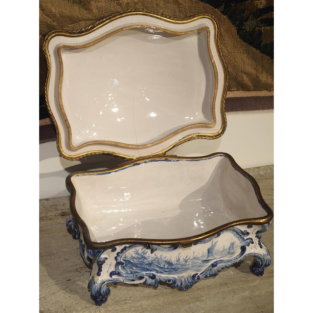 Traditional Antique Blue and White Delft Table Box, Late 19th Century For Sale - Image 3 of 13