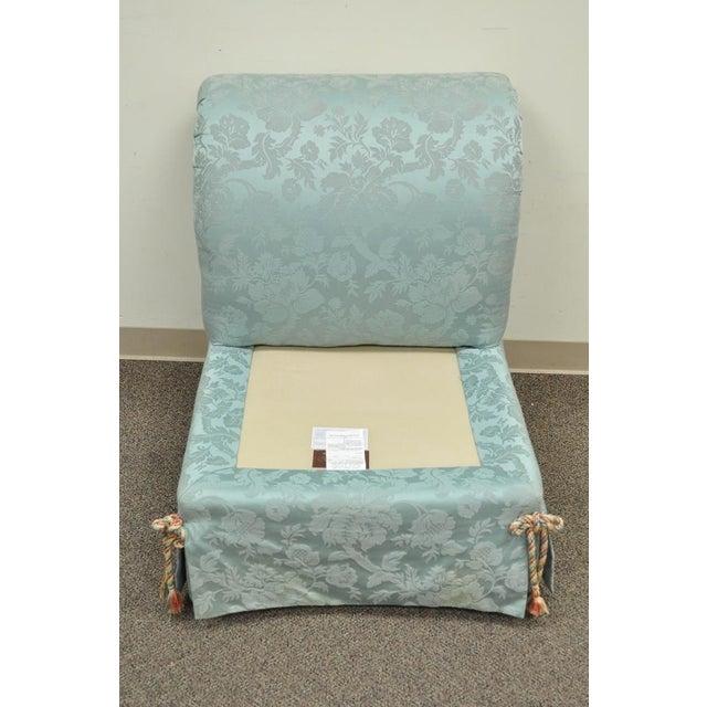 Vanguard Furniture Rolled Back Blue Upholstered Slipper Chair - Image 10 of 11