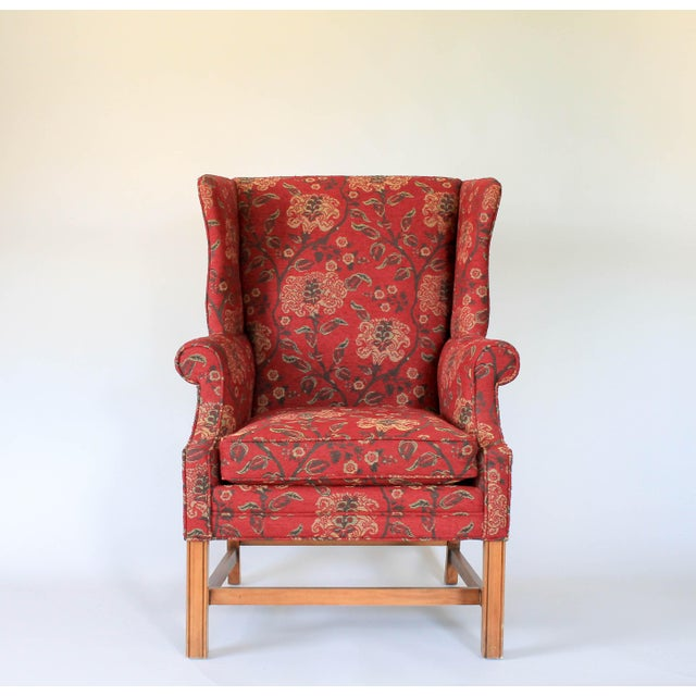 Upholstered Wingback Chair For Sale - Image 11 of 11