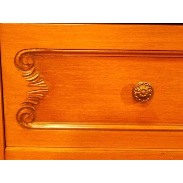 French Provincial Country Walnut Armoire For Sale - Image 4 of 8