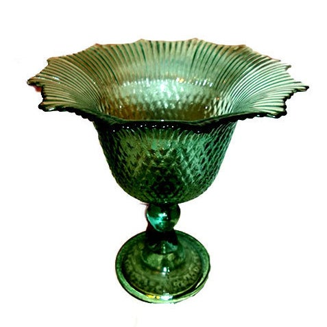 Pressed Glass Pedestal Bowl - Image 1 of 5