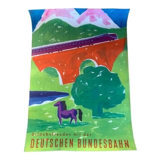 Mid Century Horse Travel Poster For Sale