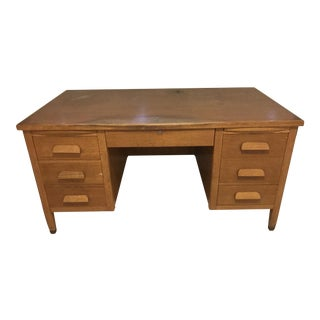 Oak Wood Executive Desk