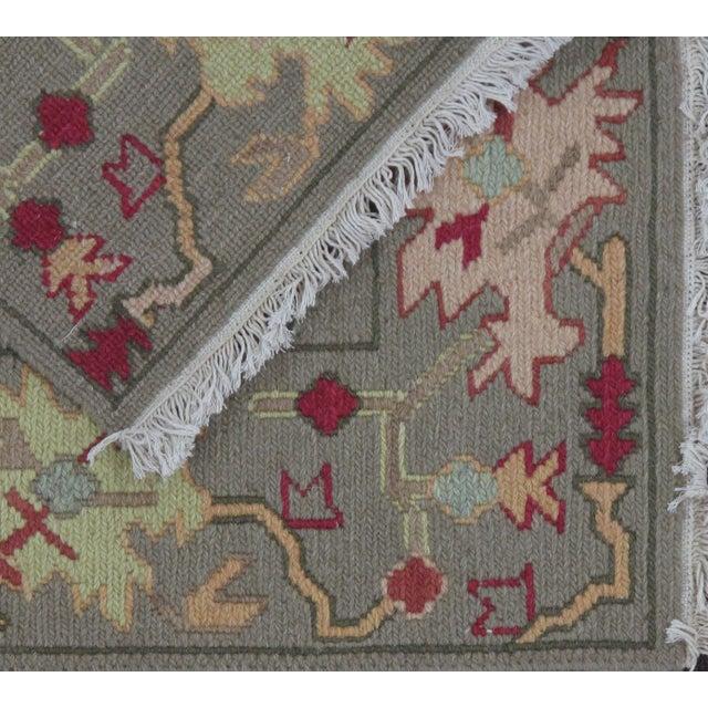 Green Soumak Design Hand Woven Wool Rug - 3′ × 5′ - Image 4 of 5