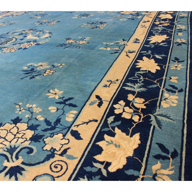 1900 - 1909 Early 20th Century Antique Chinese Peking Rug - 9′10″ × 11′8″ For Sale - Image 5 of 9