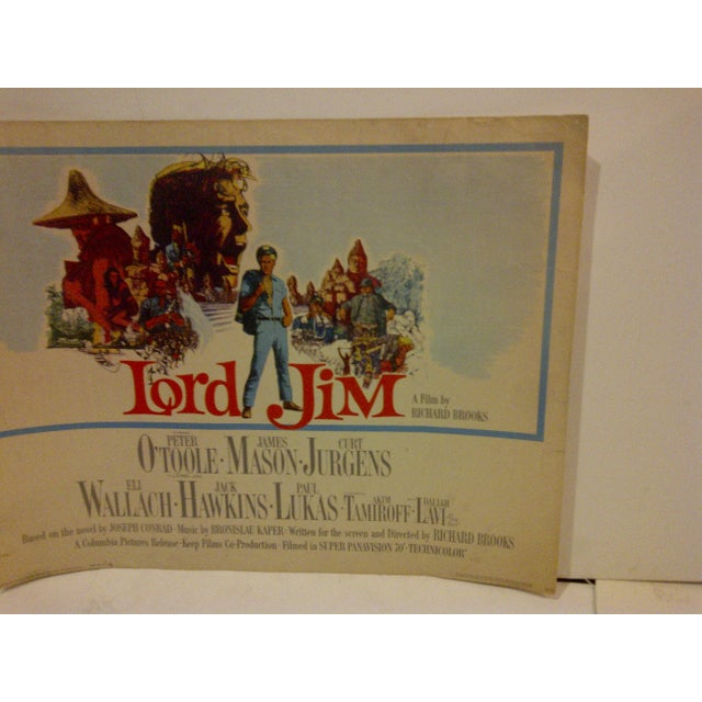 """Vintage """"Lord Jim"""" 1964 Movie Poster For Sale - Image 4 of 5"""