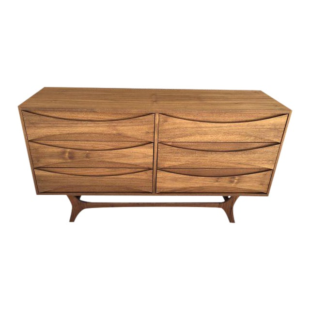 Mid-Century Custom Walnut Dresser - Image 1 of 5