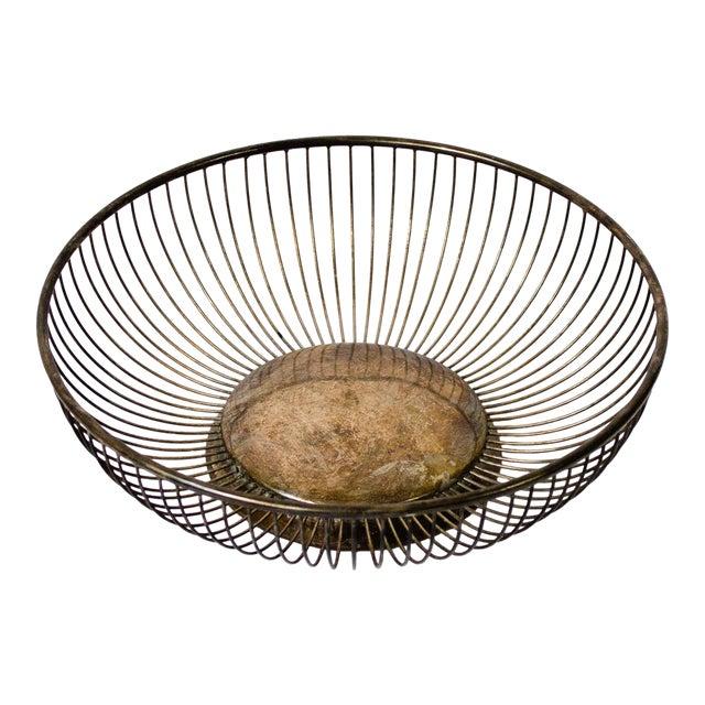 Vintage Silverplate Fruit Basket For Sale