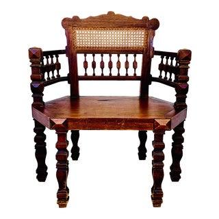 1960s Spanish Hacienda Chair by Artes De Mexico Internacionales For Sale