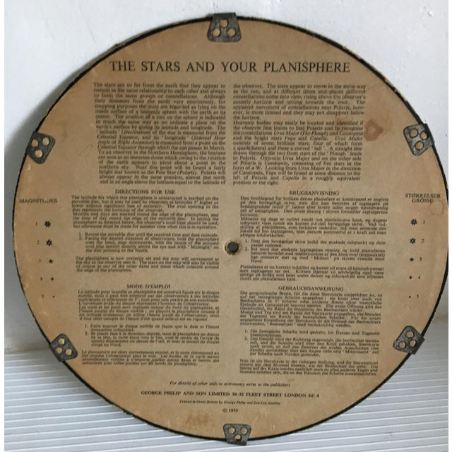 Contemporary 1959 Antique Philips Company Planisphere For Sale - Image 3 of 7