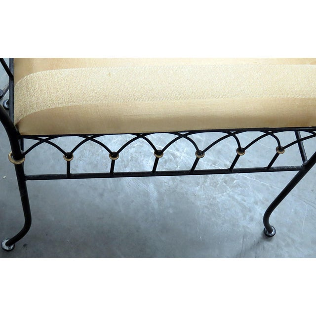 Metal Directoire Style Gilt Benches - a Pair For Sale - Image 7 of 8