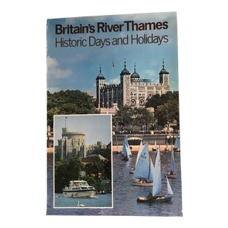 1970 Vintage Britain's River Thames Advertising Poster For Sale