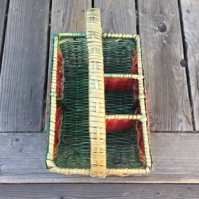 1970s Vintage Watermelon Basket For Sale - Image 4 of 6