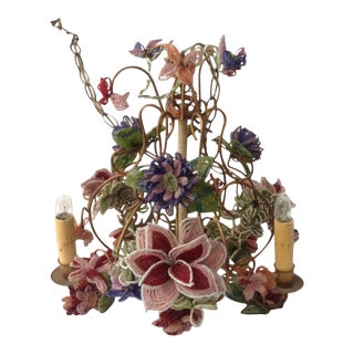 Canopy Designs Hand Beaded Chandelier For Sale