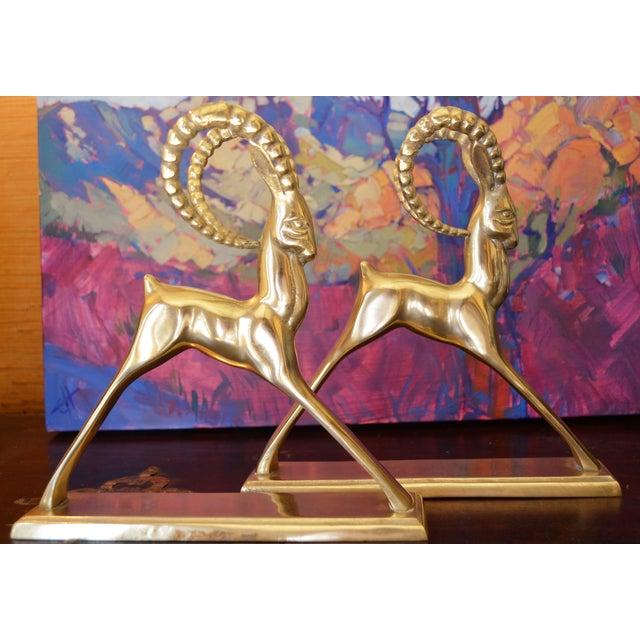 Ibex Brass Figurines - Pair - Image 9 of 11