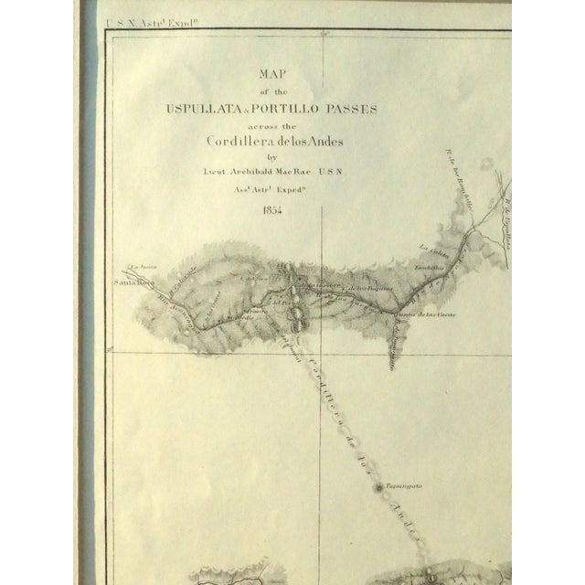 Santiago, Chili Uspullata & Portillo Passes, 1855 Map For Sale - Image 6 of 8