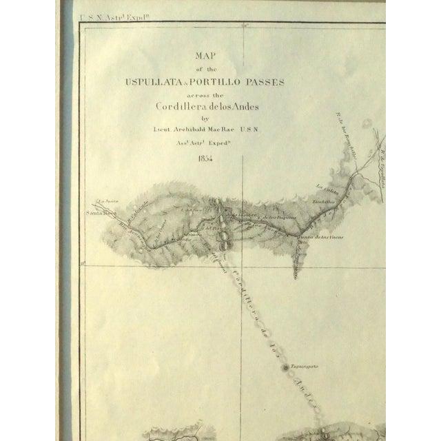 Santiago, Chili Uspullata & Portillo Passes, 1855 Map - Image 6 of 8