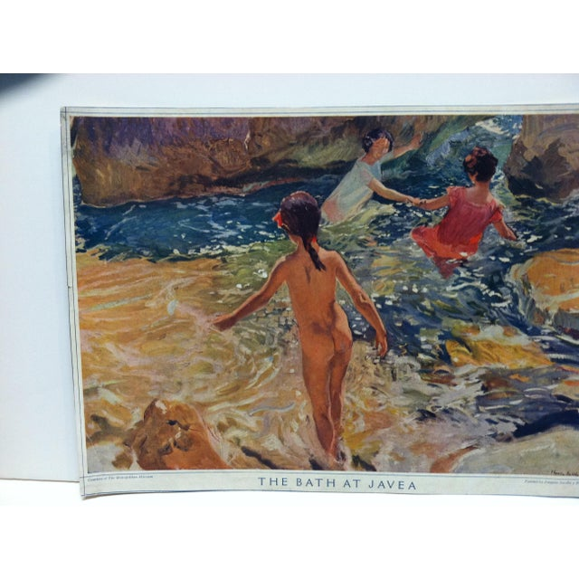 """This is an Original Print that is titled """"The Bath At Javea"""" originally painted by Joaquin Bastida. The Print is Courtesy..."""