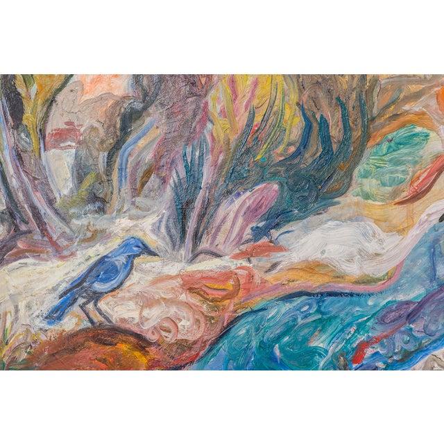 """Canvas William Eckhardt Kohler, """"Pinyon Jay"""" For Sale - Image 7 of 10"""