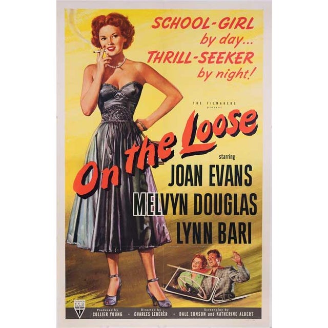 On the Loose 1951 Linen-Mounted Movie Poster - Image 1 of 2