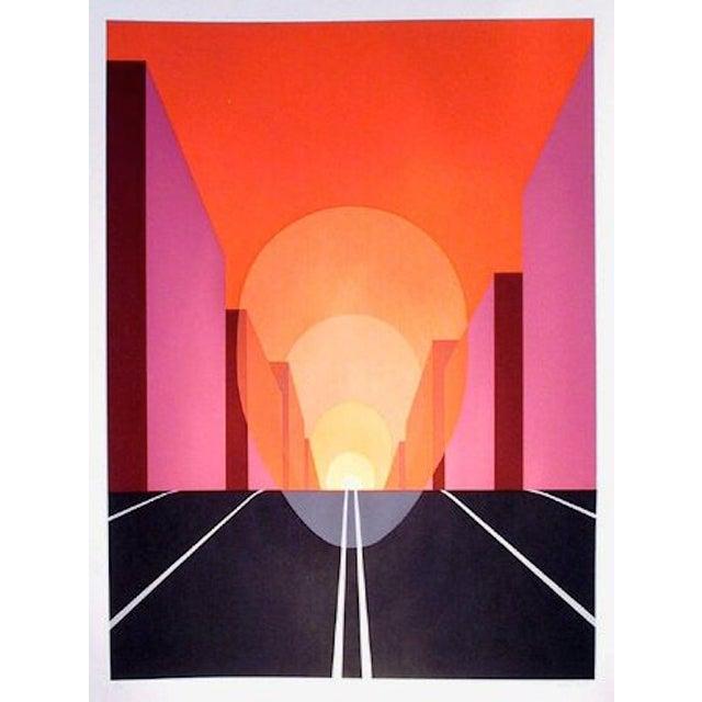 "Clarence Holbrook Carter, ""Highway,"" Serigraph - Image 1 of 2"