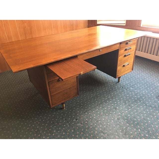 Mid Century Executive Desk by the Standard Furniture Co. - Image 6 of 10