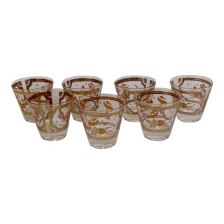 Fred Press MCM Rocks Trojan Horse Glasses - Set of 7