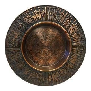 Mid-Century Handmade Copper Tray by Zsüri Szám For Sale